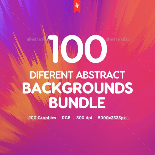 Generate - 100 Different Abstract Backgrounds Bundle