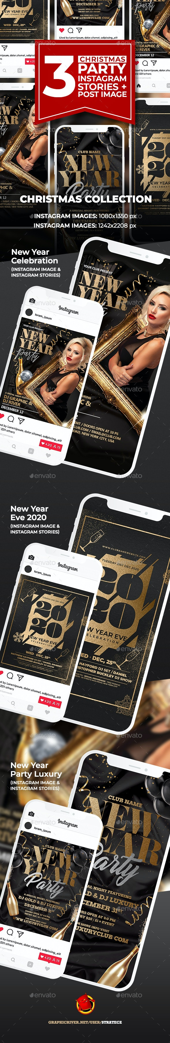 New Year Instagram - Social Media Web Elements