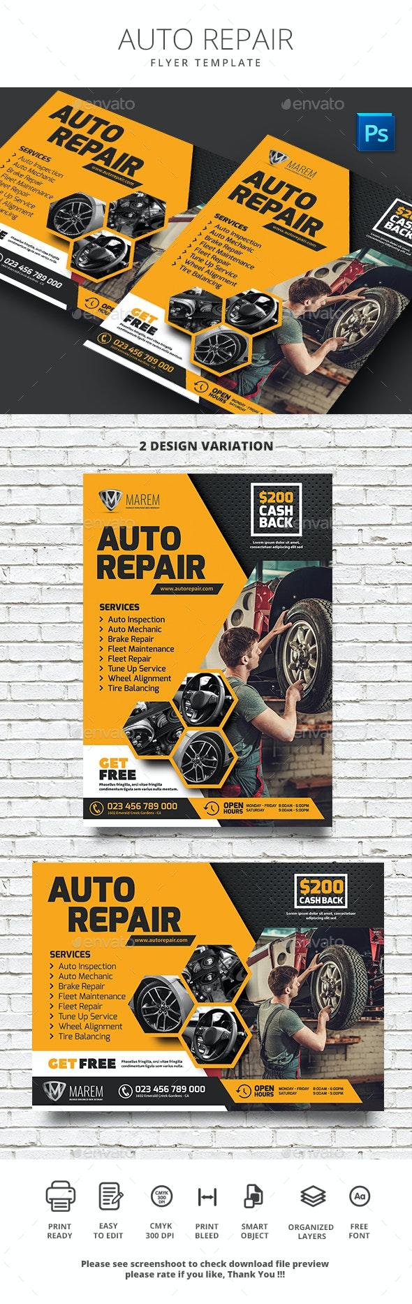 Auto Repair Flyer - Commerce Flyers