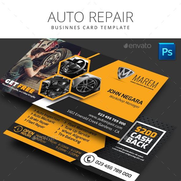 Auto Repair Business Card