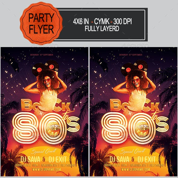 80's Party Flyer