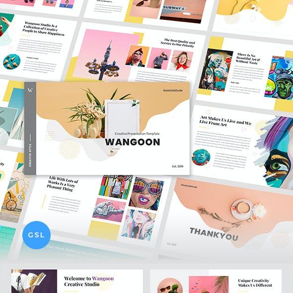 Wangoon – Creative Business & Pop Art Google Slides Template