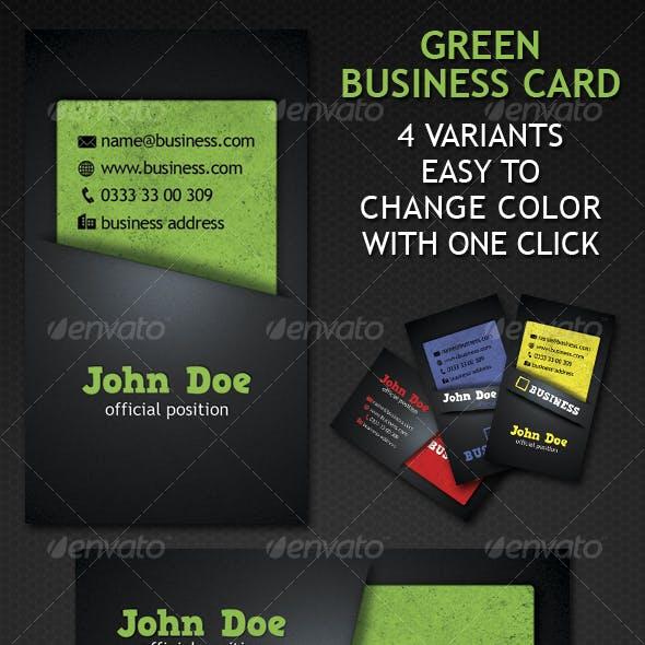 Green Business Card 4 Variation