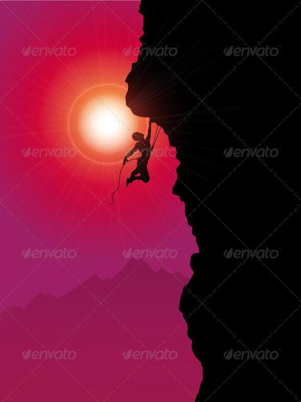 Extreme rock climber - Sports/Activity Conceptual
