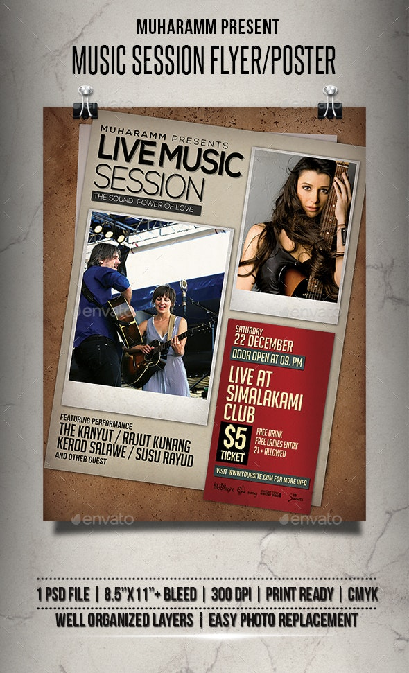 Music Session Flyer / Poster - Events Flyers