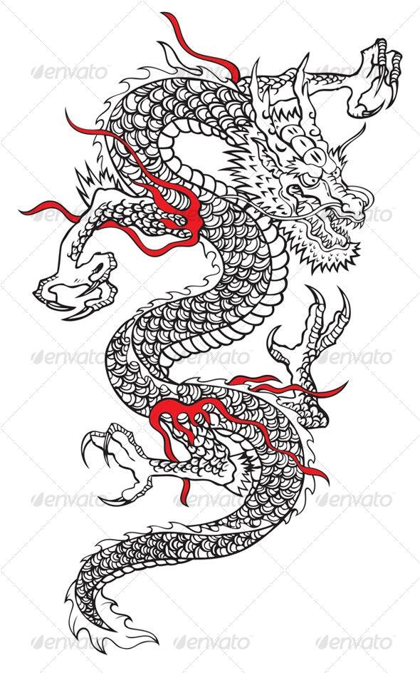 Japanese dragon - Animals Characters