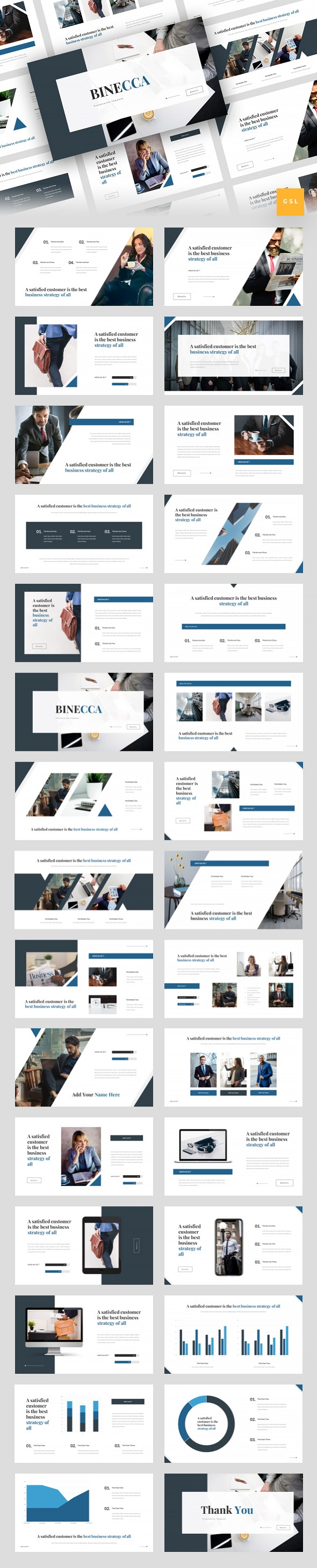 Binecca - Business Google Slides Template - Google Slides Presentation Templates