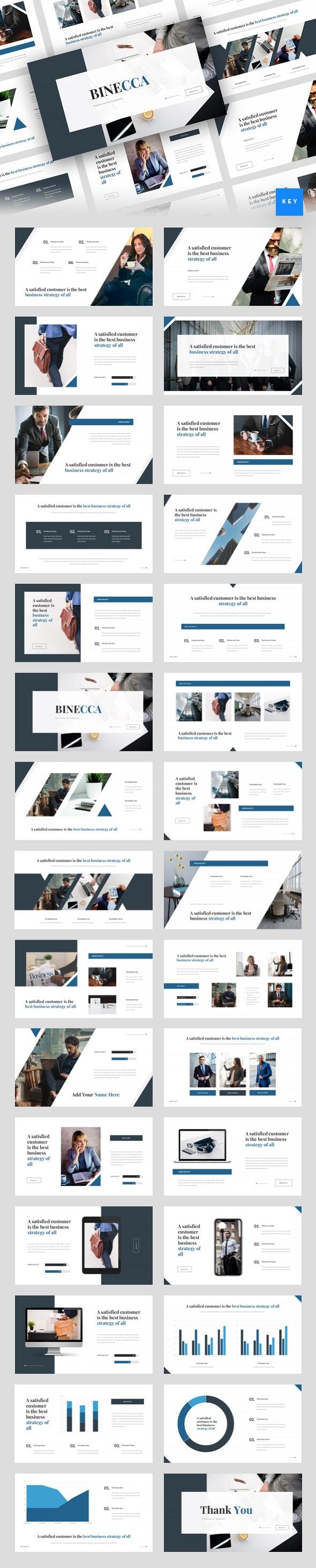Binecca - Business Keynote Template - Business Keynote Templates
