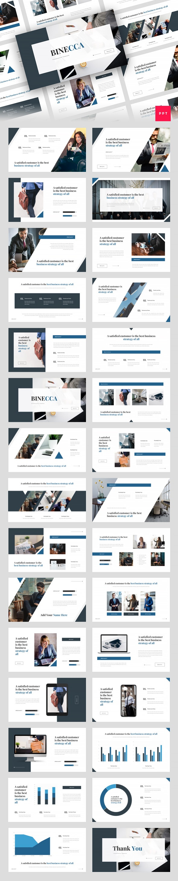 Binecca - Business PowerPoint Template - Business PowerPoint Templates
