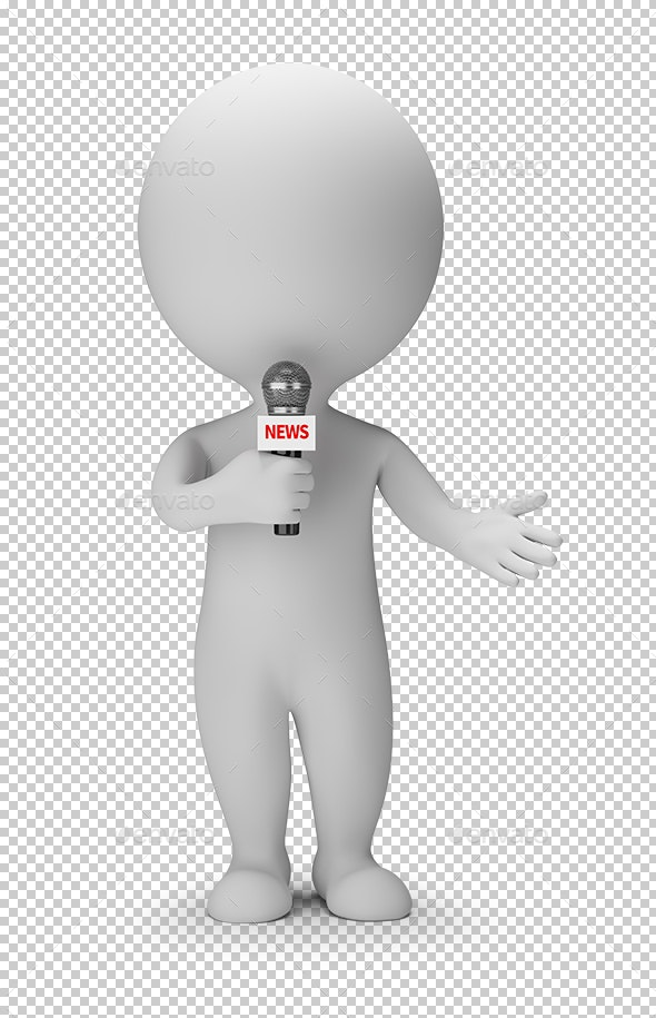 3D Small People - News Presenter - Characters 3D Renders