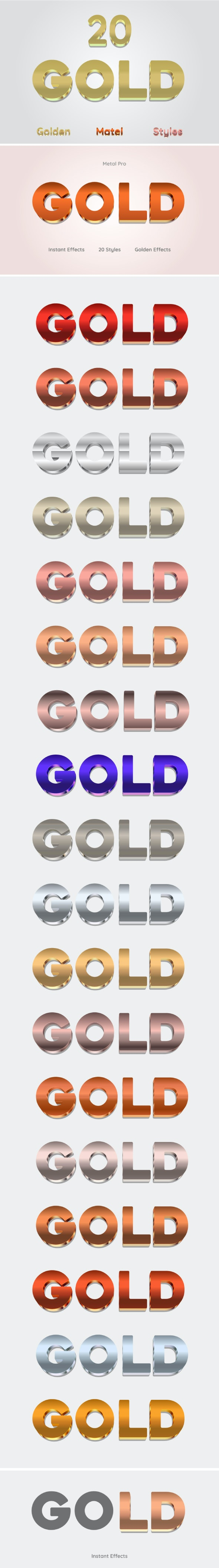 Metal Text Effects For Illustrator - Styles Illustrator