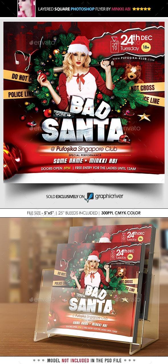 Bad Santa Flyer - Events Flyers