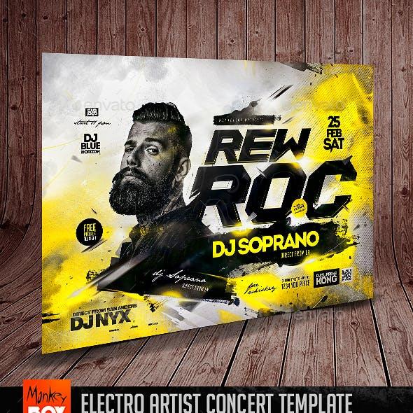 Electro Artist Concert Template