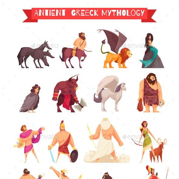 Greek Gods Mythical Creatures Set