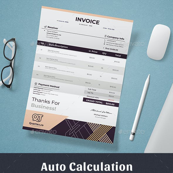 Invoice Template Excel Numbers