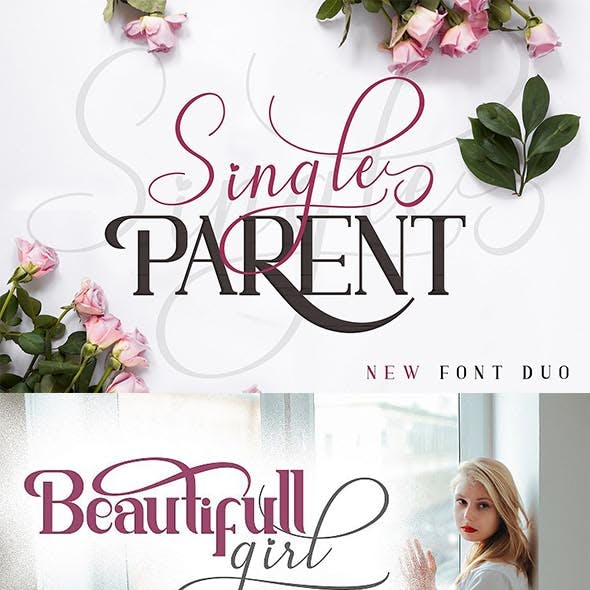 Single Parent Font Duo