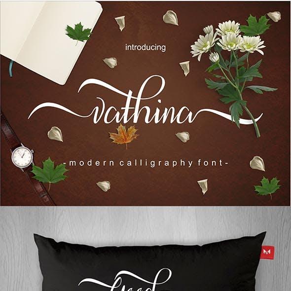 Vathina Script Font
