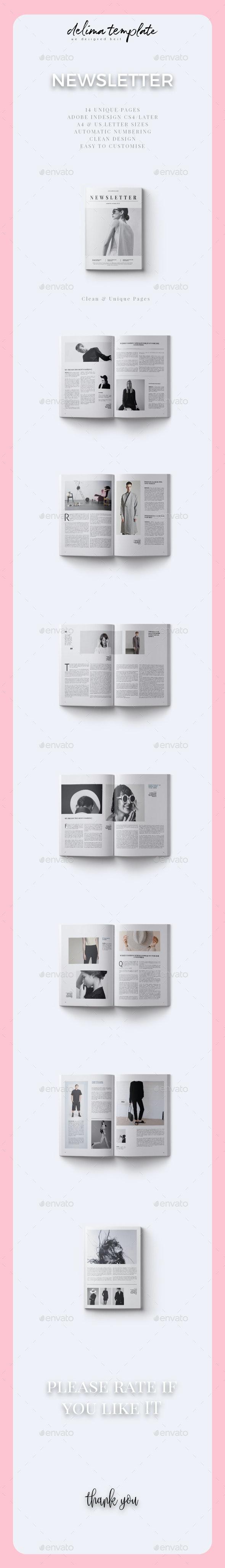 Newsletter Vo. 01 - Newsletters Print Templates