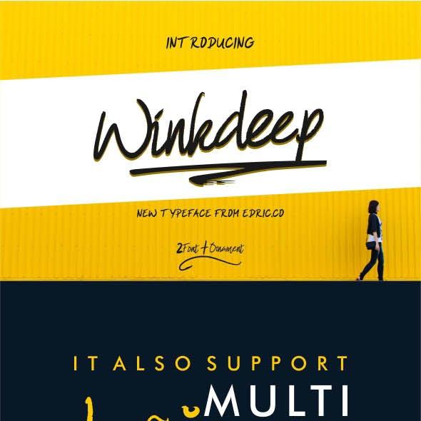 WinkDeep Font - Dry Brush Chalk Script Font