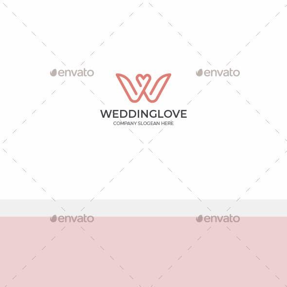 Wedding Love - Letter W Logo