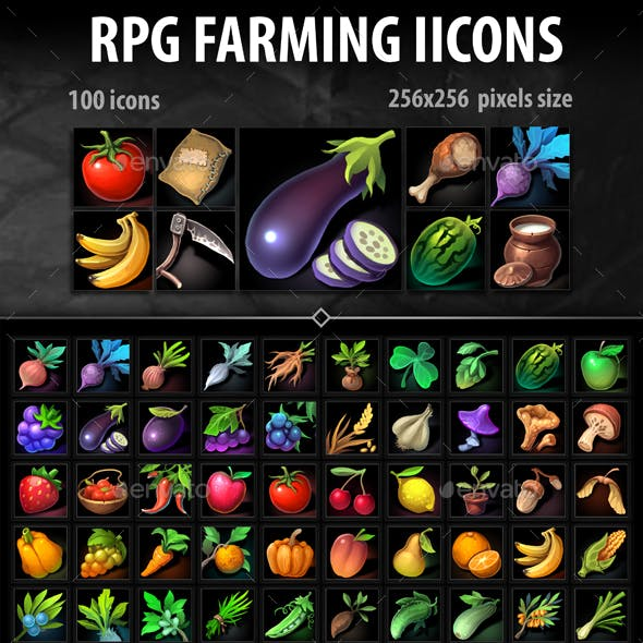 RPG farming Icons