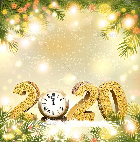Christmas and Happy New Year Holiday Background - Christmas Seasons/Holidays