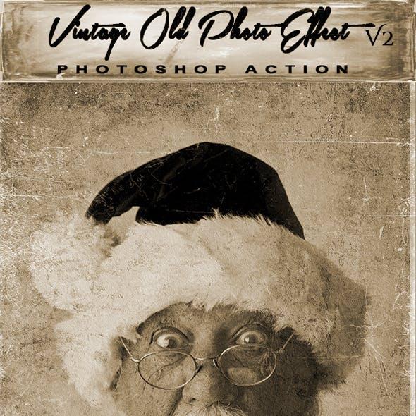 Vintage Old Photo Effect V2 Photoshop Action