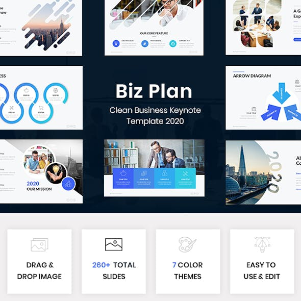 Biz Plan - Clean Business Keynote Template