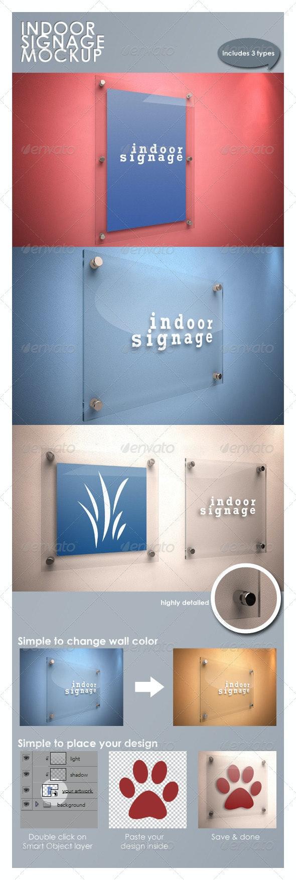 Indoor Signage Mockup - Signage Print