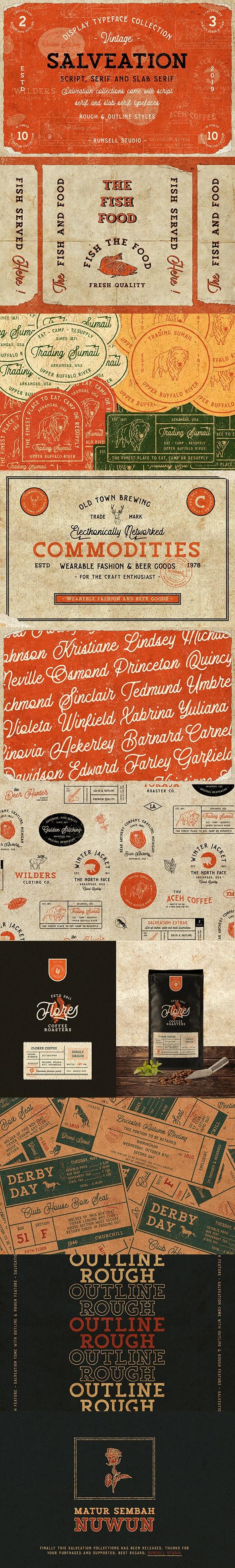 Salveation Font Collection - Fonts