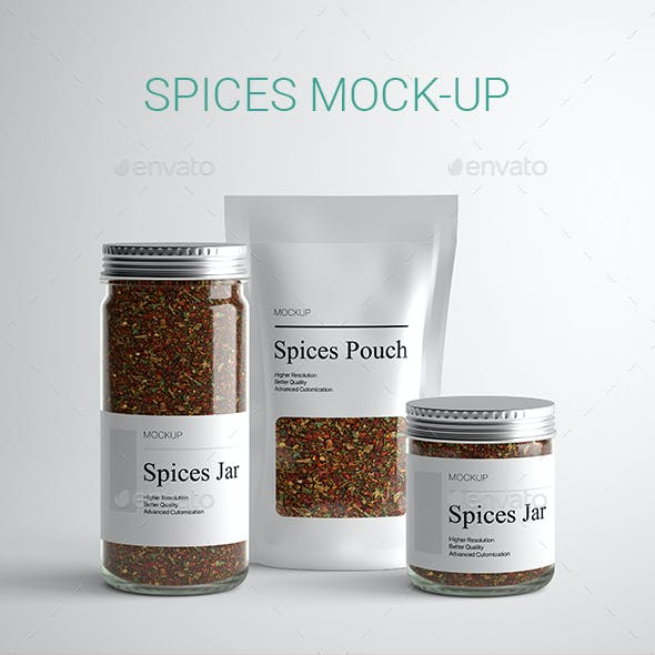 Spices Mock-Up