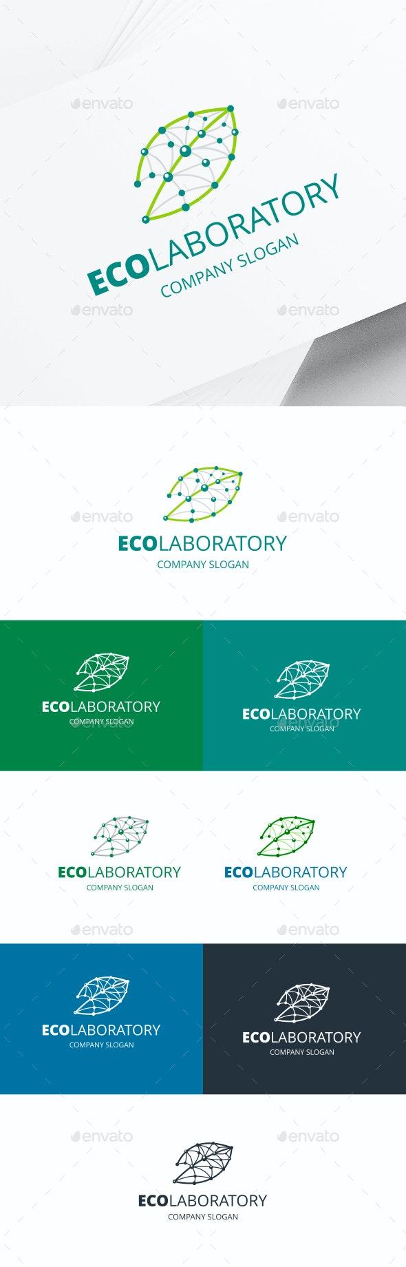 Lab Leaf Logo - Nature Logo Templates