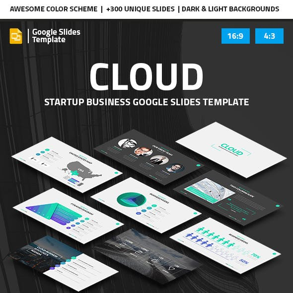 Cloud - Startup Business Google Slides Pitch Deck