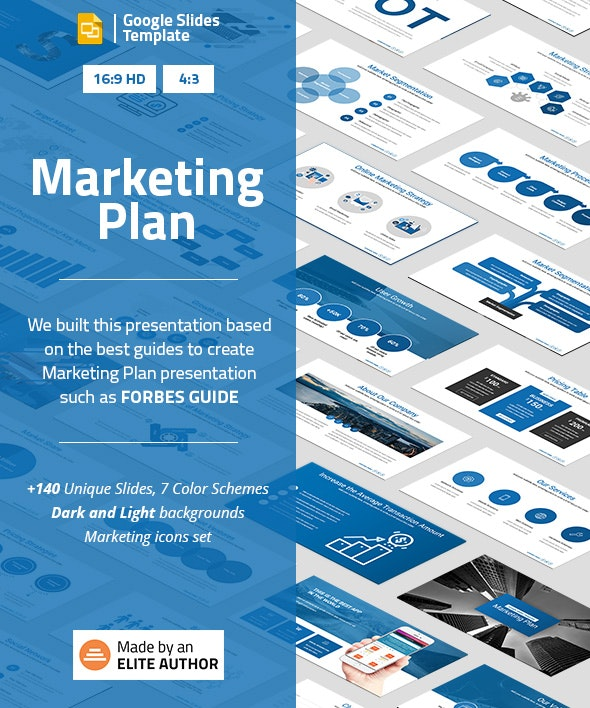 Marketing Plan Google Slides Presentation Template - Google Slides Presentation Templates