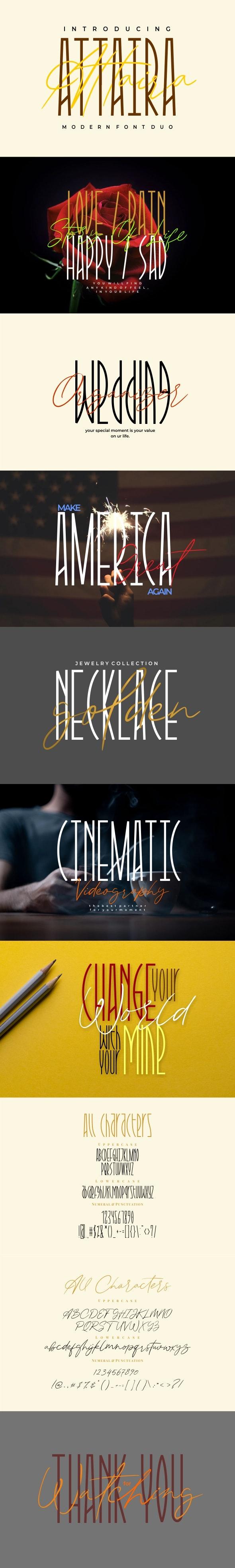 Attaira - Display And Signature Font - Condensed Sans-Serif