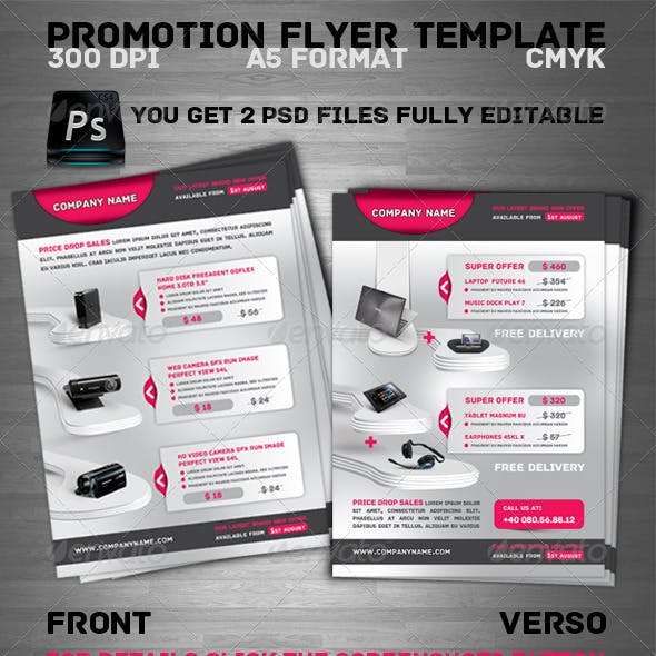 High Technology Promotion Flyer Template
