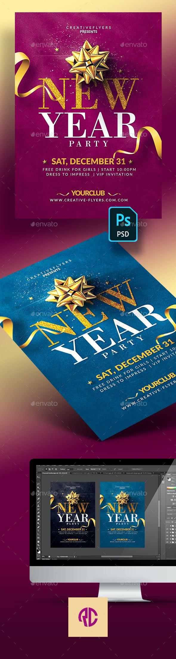 Elegant New Year Flyer Templates - Events Flyers