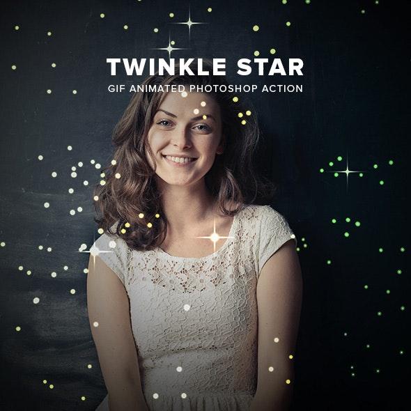 Twinkle Star Gif Animated Photoshop Action - Actions Photoshop