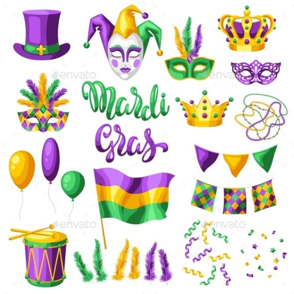 Mardi Gras Party Set of Items