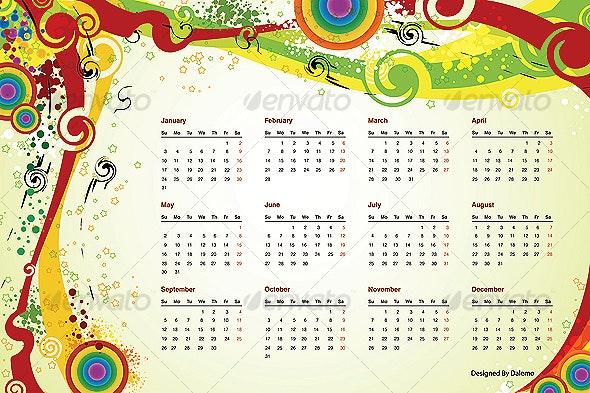 Vector 2010 Calendar  - Miscellaneous Vectors