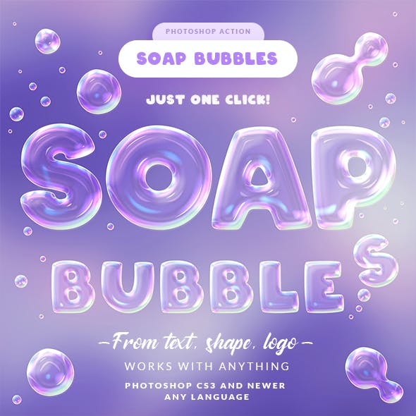 Soap Bubbles Photoshop Action
