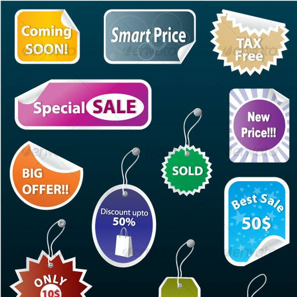 Sales Tags & Stickers Collection