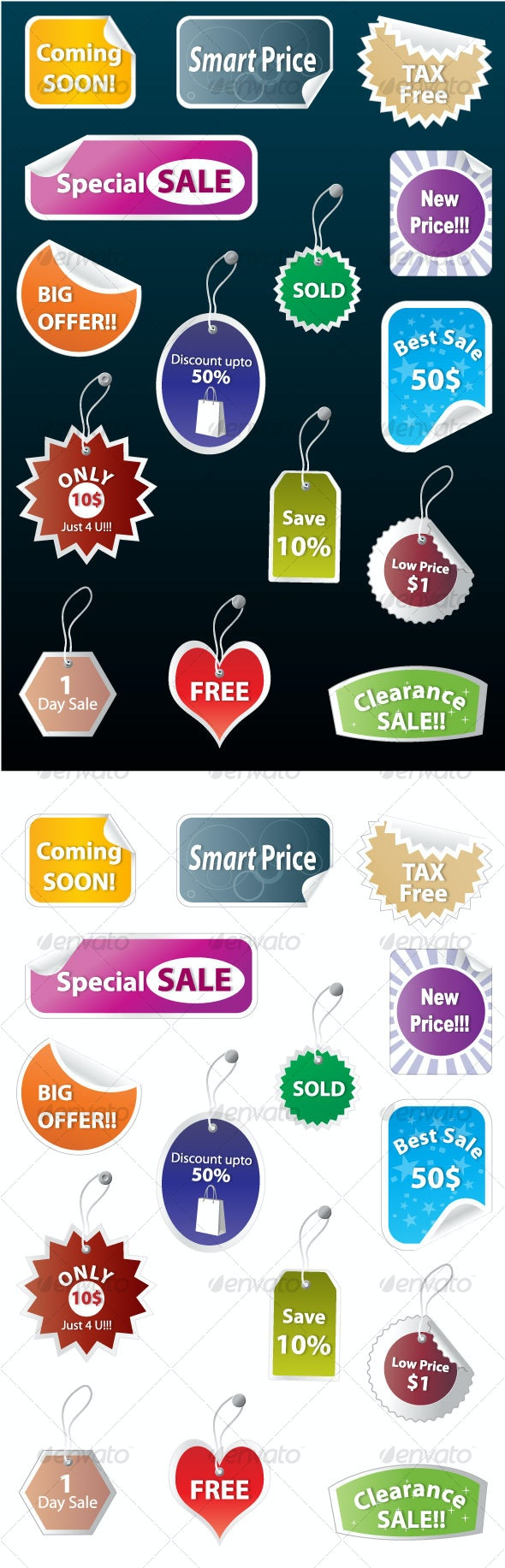 Sales Tags & Stickers Collection - Business Conceptual