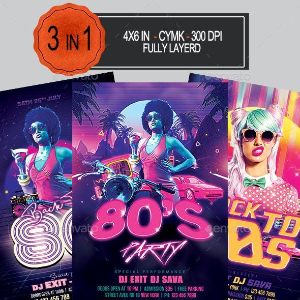 80s Party Flyer Bundle