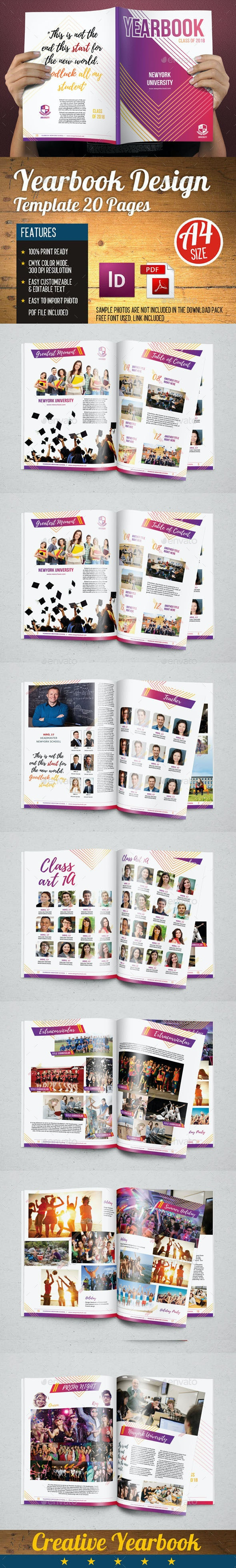 Yearbook Template Design Vol 3 - Photo Albums Print Templates