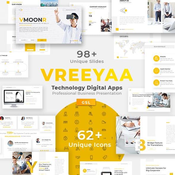 Vreeya - Technology Digital Apps Professional Business Presentation