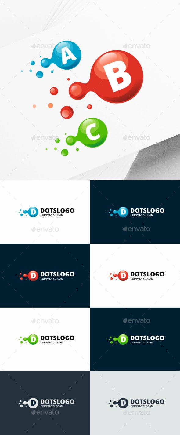 Lab Molecule Logo - Letters Logo Templates