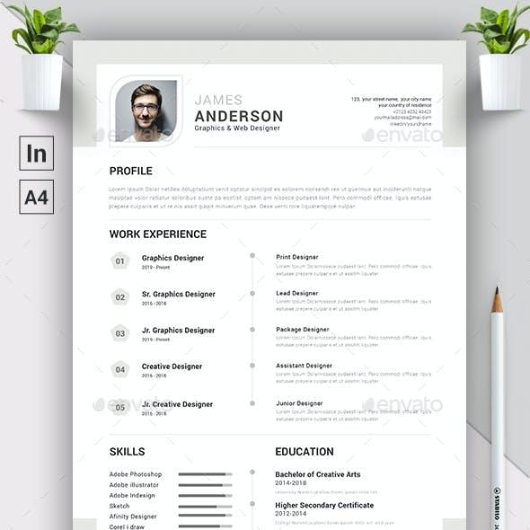 Indesign CV/Resume Template