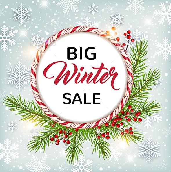 Seasonal Winter Sale Background - Christmas Seasons/Holidays