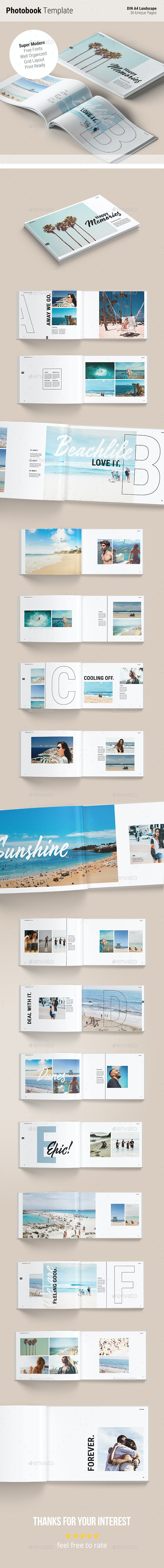 Photobook Template | Memories - Photo Albums Print Templates